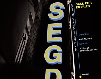 SEGD 2013 Call for Entries Poster