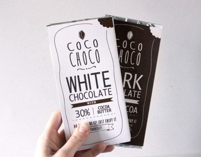 coco choco dark & white chocolate