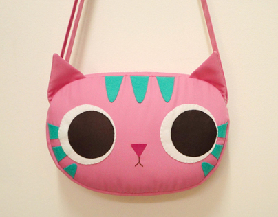 Pinky kitty mini shoulder bag