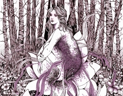 Purple Fairy (Book Illustration)