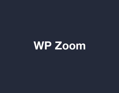 WP Zoom Developer Icon Set