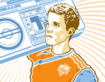 Houston Dynamo - Stuart Holden Poster
