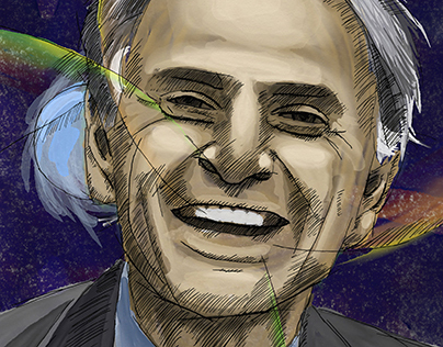 Portrait of Carl Sagan