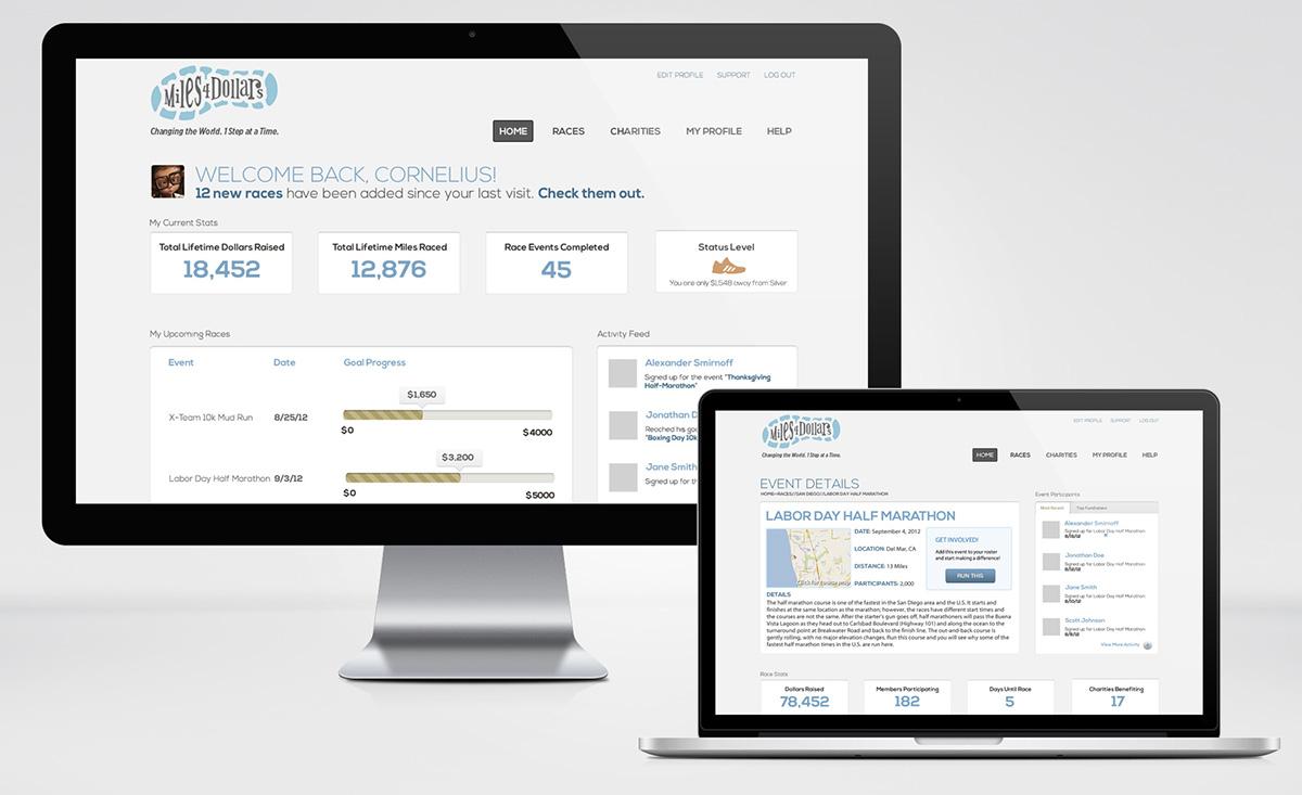 Charity Athletic Race Web App