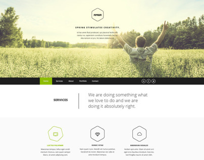 Vernum - One Page Multipurpose PSD Template