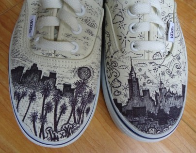 LA x NY Custom-Designed VANS Shoes