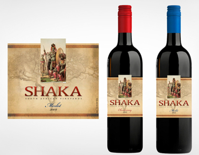 Shaka Wine Label