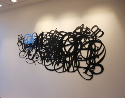 Typography Treatment Installation