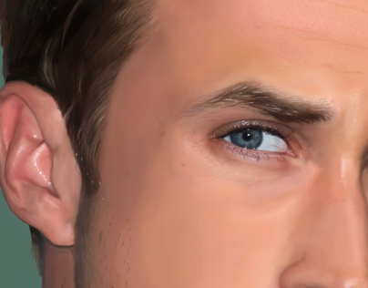 Digital portrait of Ryan Gosling