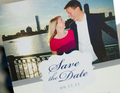 Boston Wedding Invitation & Suite of Paper Goods