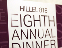 Hillel 818 8th Dinner Celebration Event branding