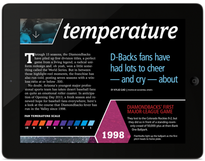 Diamondbacks fan temperature