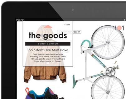 Biz 101 Magazine & Tablet Design