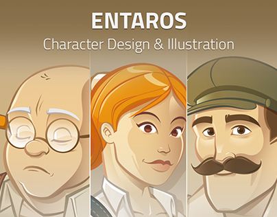 ENTAROS illustration & Web page redesign