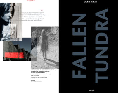 A FASHION FRIEND EDITORIAL- FALLEN TUNDRA