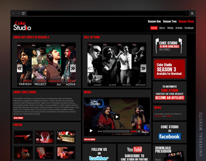 CokeStudio Universal Website
