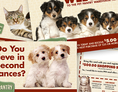 Pet Pantry Warehouse Promotional Materials