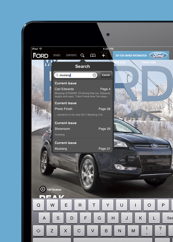 My Ford iPad app