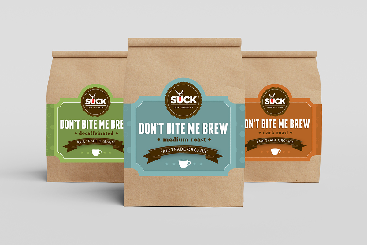 Dont Bite Me Coffee Packaging
