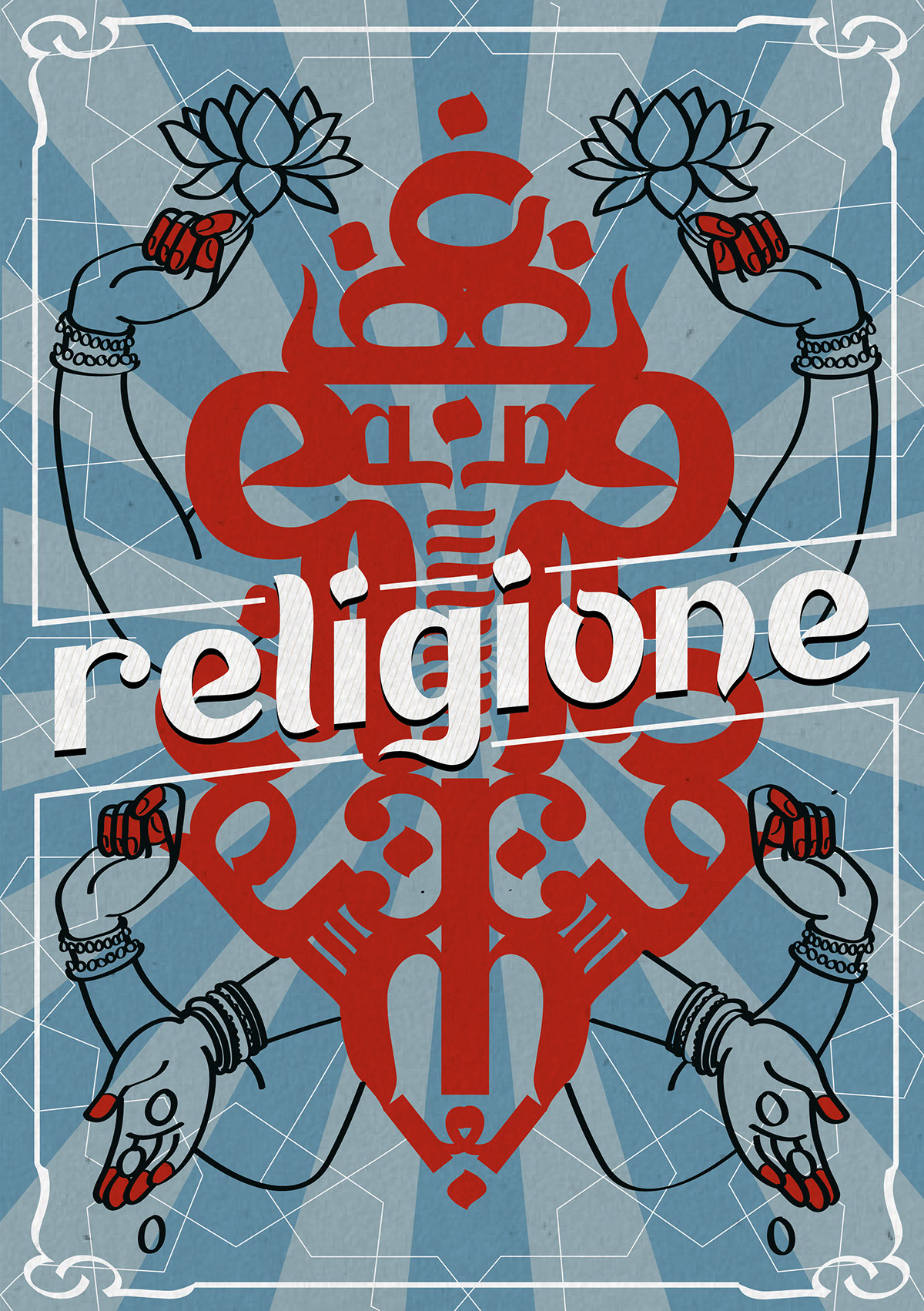 I mean, religion. Typographic poster