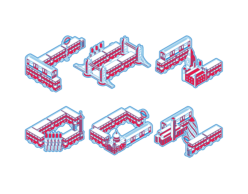 LONDON / Typeface Illustration