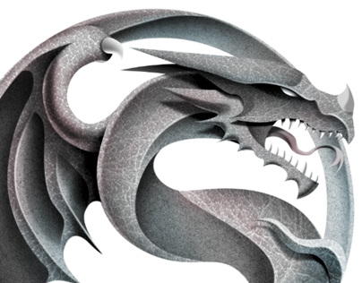 Dragon Ying Yang Illustration