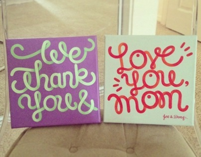 Letter paintings