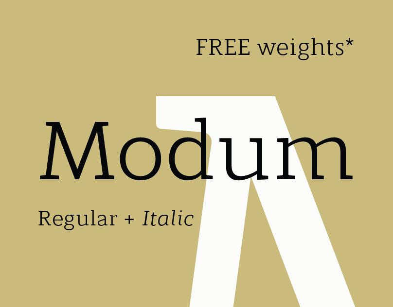 Modum Regular + Italic - FREE FONT