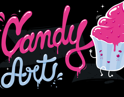 Candy Art tee design