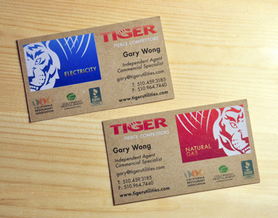 Tiger Utilities Business Card