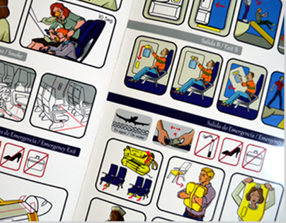 Airbus A-320 Safety Card - Flyaruba Airlines.