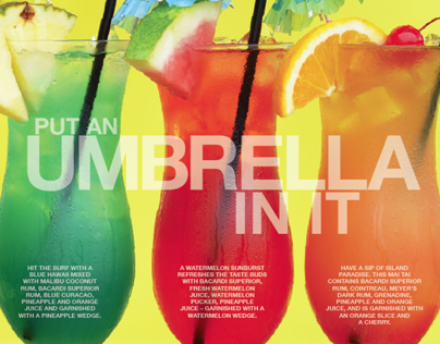 DRINK LAYOUTS / BSCENE MAGAZINE