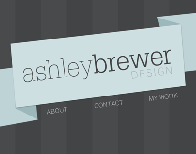 Portfolio Website Design {Idea 1}