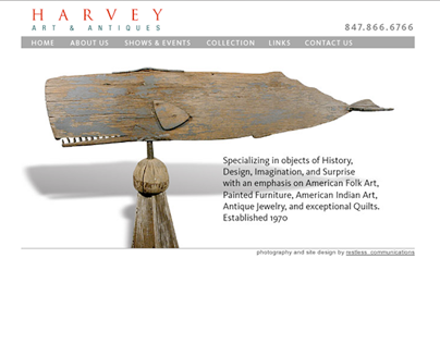 Print and Online marketing for Harvey Art & Antiques
