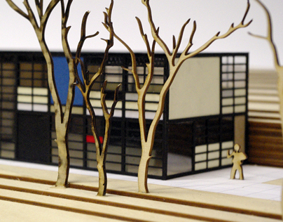 Model of the Eames House