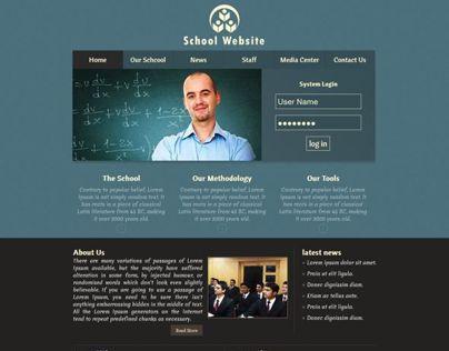 School Website design & S.M.S. UI