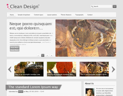 Clean Design, Drupal Responsive Blog News Theme