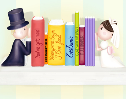 Marriage&food - bookshelf