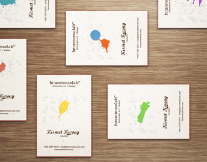 futuretenselab name card - redefine your unique logo