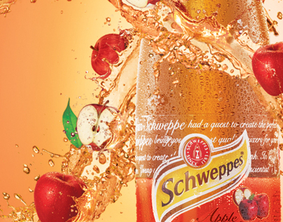 Schweppes Apple Poster