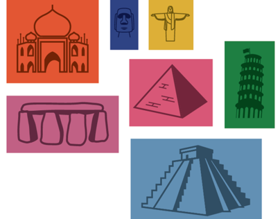 Icons of the Iconic Seven Wonders of the World