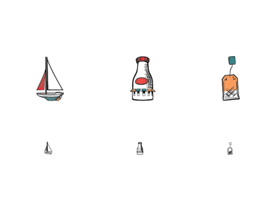 Boston Harbor Pictograms