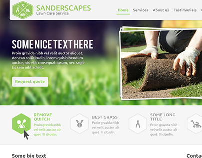 Lawn care services (website and logo design)