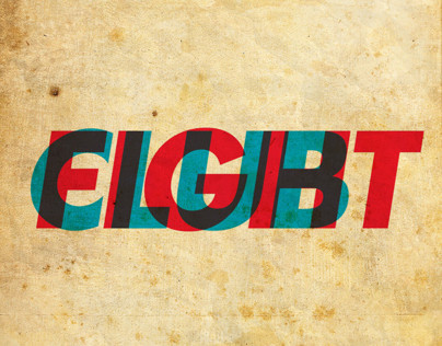 Fight Club Typographic poster