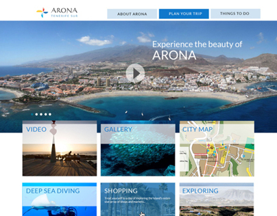 Destination Arona Website Design