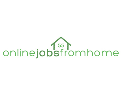 Online Jobs from Home Logo Concept