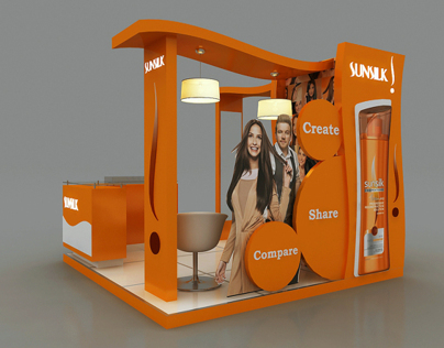 Sunsilk Activation Booth Design - 2 Options -