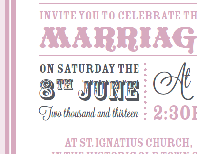 Wedding Invitation (double fold)