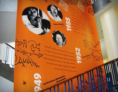 Claude Lévi-Strauss centennial tribute mural