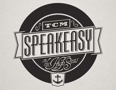 TCM Classic Cruise Speakeasy Lounge Logo